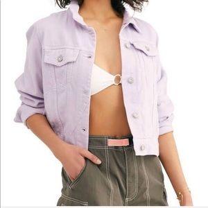 💜🦄 New Free People Lilac Denim Jean Jacket